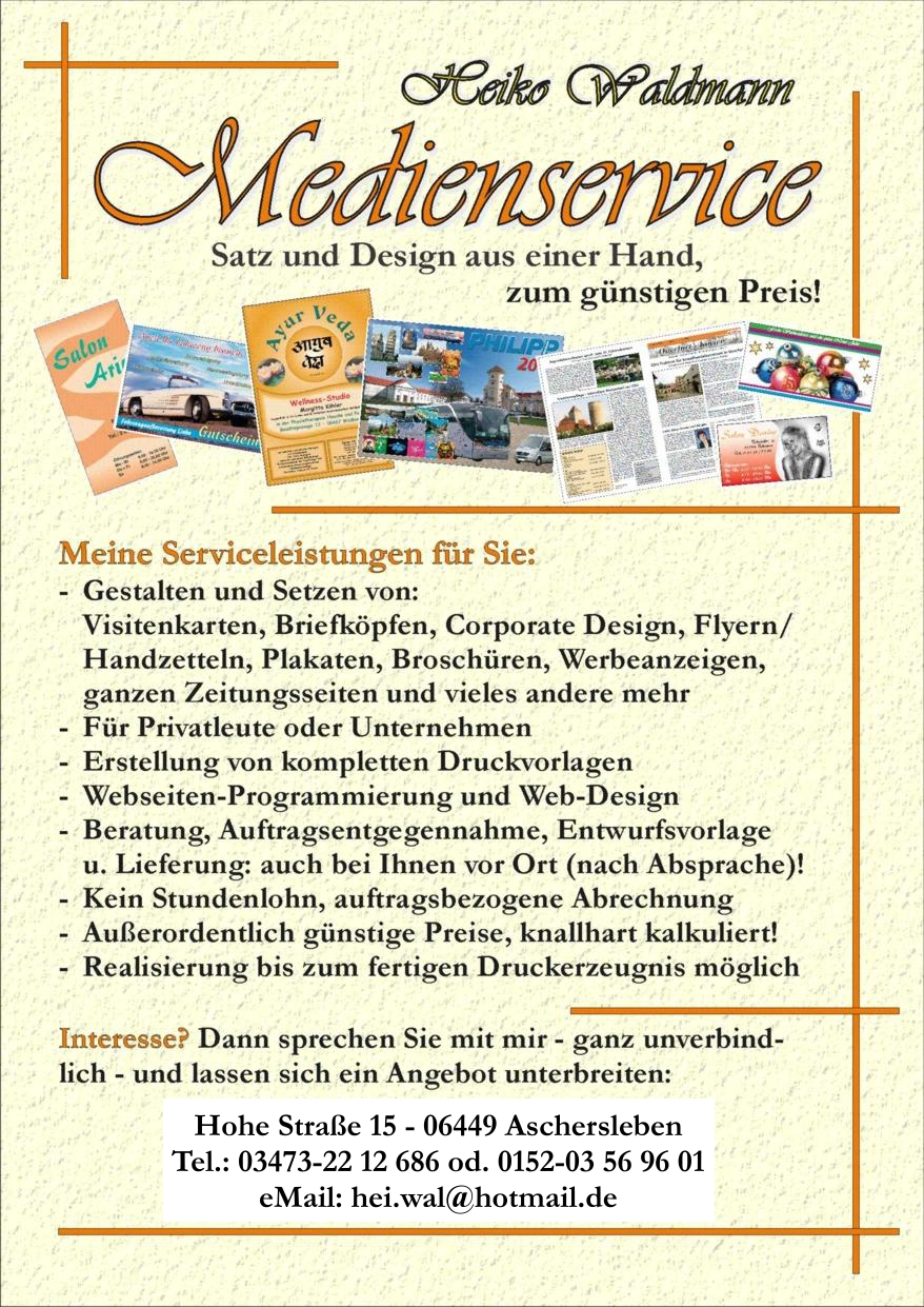 Medienservice-Flyer